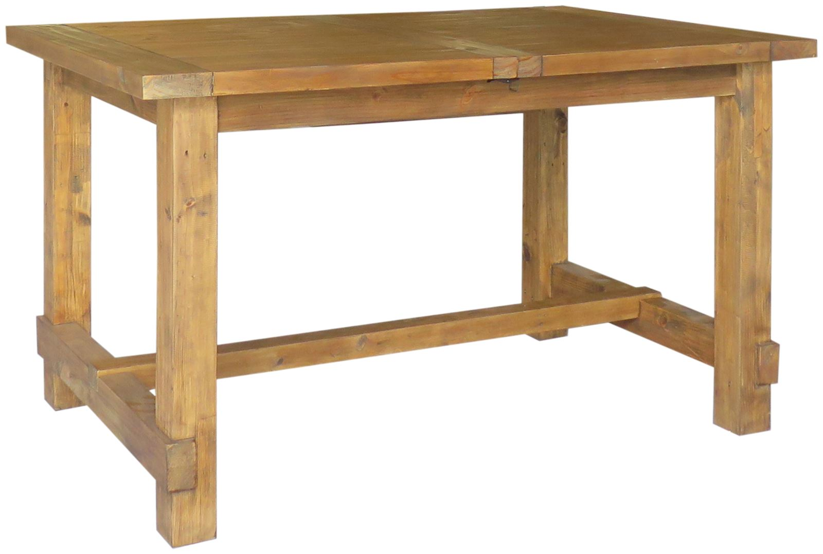 Camrose reclaimed pine extending dining table for Dining table weight